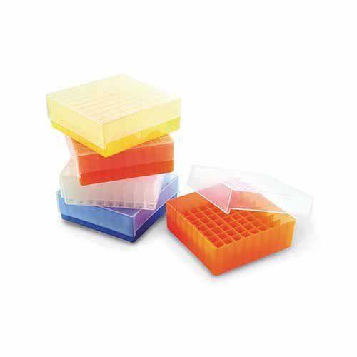 Rack para 81 Tubos Criogênicos/ Microtubos 1,5 ml a 2,0 ml Transparente - 1 und. Kasvi