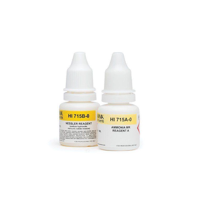Reagentes para Amônia Faixa Média (linha checker) - 25 testes Hanna