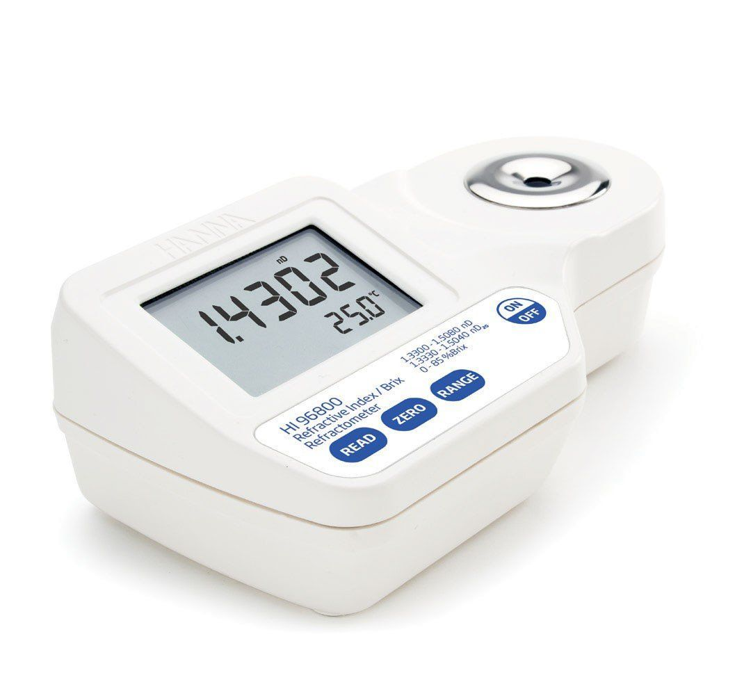 Refratômetro Digital para Índice de Refração e Brix Hanna