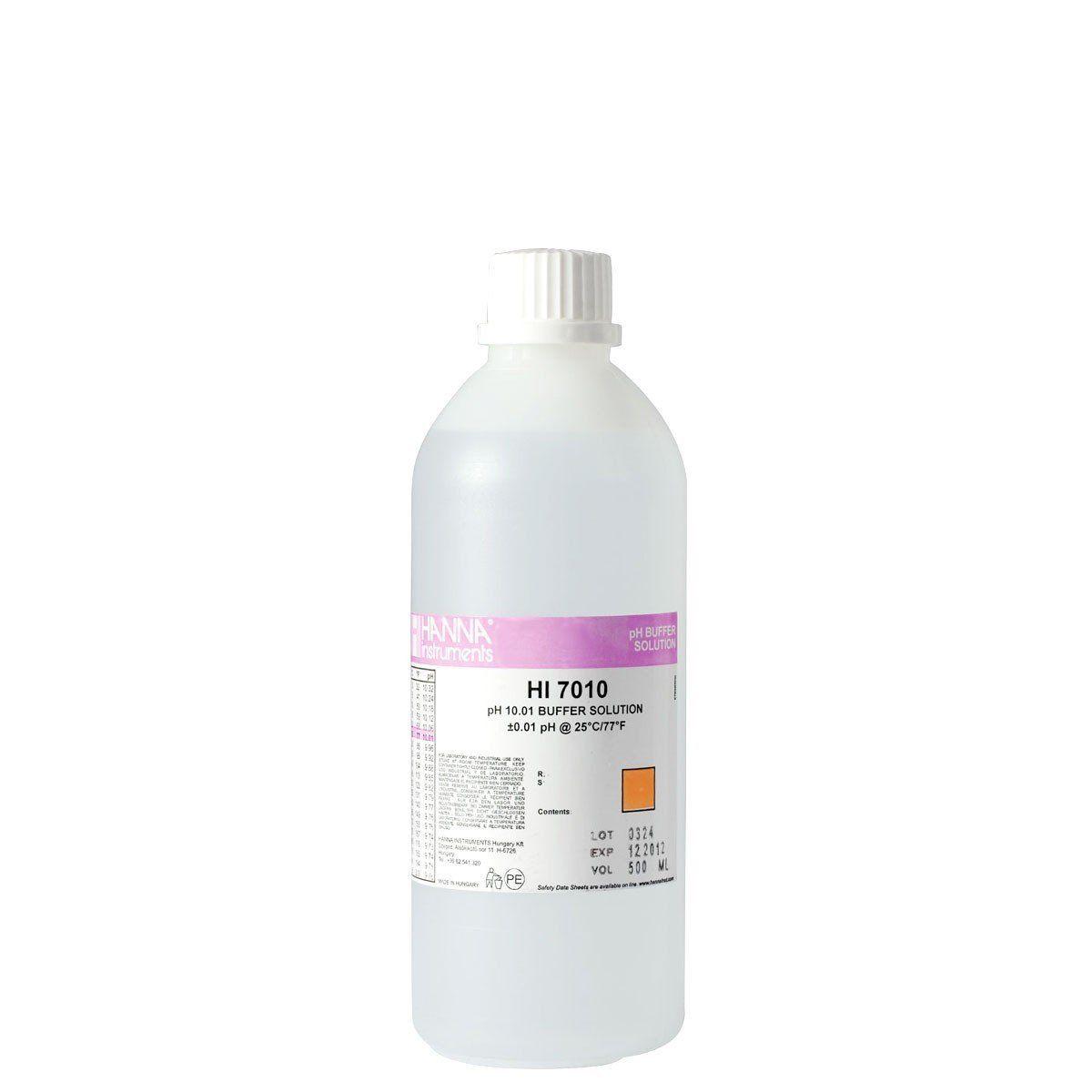 Solução de Calibração pH 10,01 Frasco de 500 ml Hanna