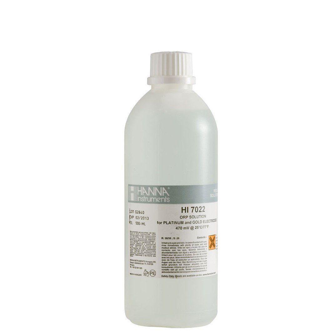 Solução de Teste ORP 470 mv @ 25 °C - Frasco 500 ml Hanna
