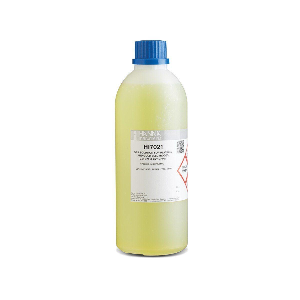 Solução de Teste ORP de 240 mv @ 25 °C - Frasco 500 ml Hanna
