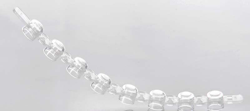 Tampa p/ Microtubo em Tiras PCR p/8 tubos de 0,1/0,2ml pct 120 unid. Capp