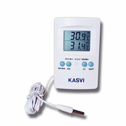 Termômetro de Temperatura Máxima e Mínima Kasvi - Barato o Ano Todo ETQ