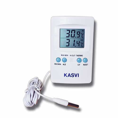 Termômetro de Temperatura Máxima e Mínima Kasvi ETQ - ENTREGA IMEDIATA