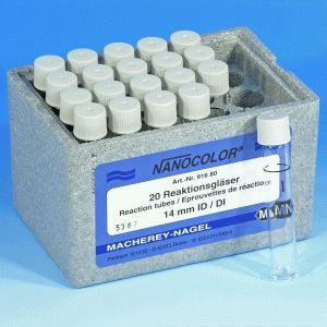 Tubo de Vidro Para Reação 16 mm/ diametro - 20 und./ pct. Macherey-Nagel (MN)