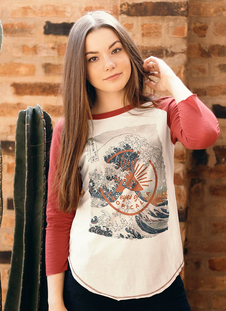 Camiseta Manga Longa Feminina Eyes of Tropicalia