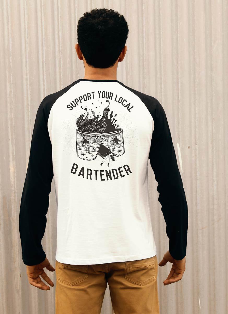 Camiseta Manga Longa Masculina Bartender