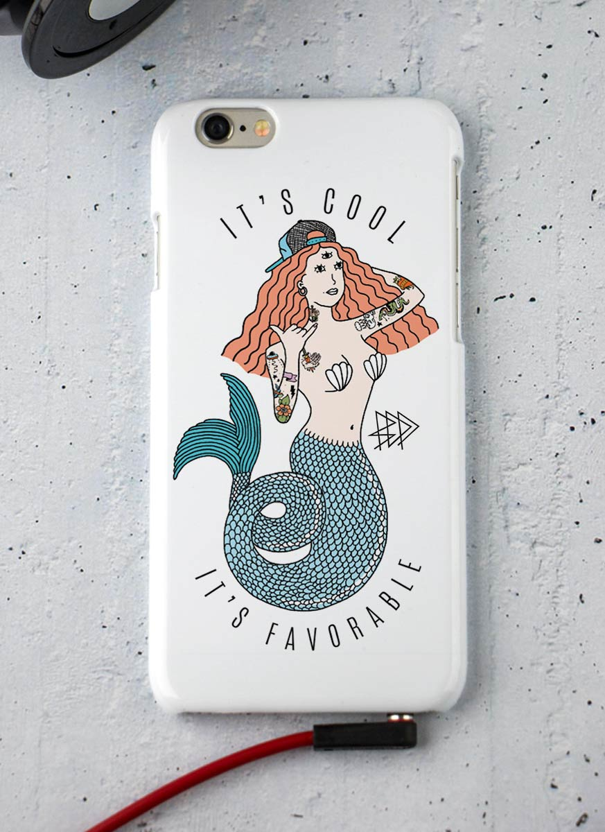 Capa para iPhone 6/6S Thug Mermaid