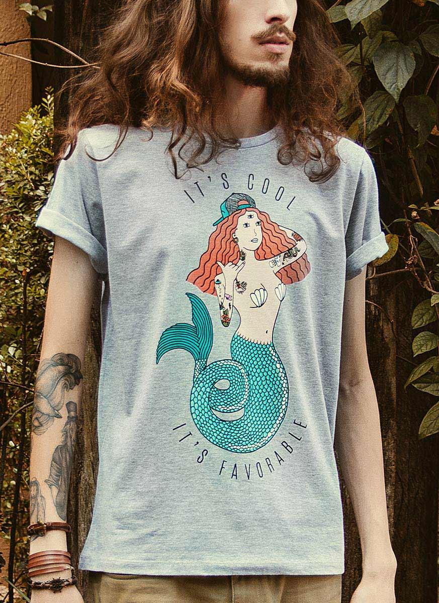 T-shirt Thug Mermaid