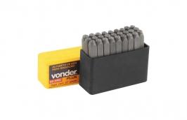 Alfabeto de Aço 4mm Dureza 58 a 63 HRC Profissional - VONDER