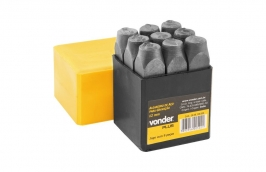Algarismo de Aço 5mm Dureza 58 a 63 HRC Profissional - VONDER
