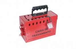 Caixa de Bloqueio de Metal Vermelha Para 13 Cadeados CBA13AP - TAGOUT
