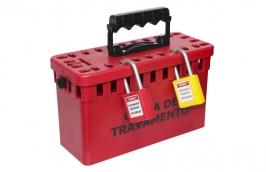 Caixa de Bloqueio Plástica Vermelha para 26 Cadeados CBP26 - TAGOUT
