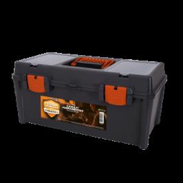 Caixa de Ferramenta Plástica com bandeja Removível 2 Estojos 510 x 230 x 240 mm 96002 - Presto