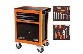Carro para ferramentas 2 gavetas e 2 portas 45 peças 44950/745 - Tramontina Pro