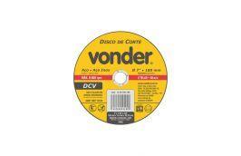 Disco de Corte Inox 180X1,6X22,23 - Vonder