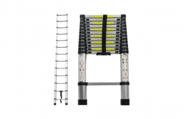 Escada Telescópica 12 Degraus 3,8m Alumínio - CHARBS