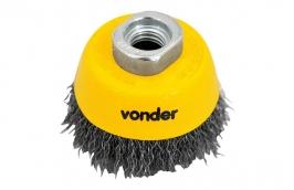 Escova de Aço Ondulado Tipo Copo 2.1/2 M14X2MM - Vonder