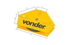 Esquadro Magnético Hexagonal para Soldador 30-90G 10KG - Vonder