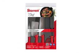 Jogo de facas Kit Chef com 6 peças vermelho BKK-6R1 - STARRETT