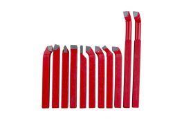 Jogo de Ferramentas em Metal Duro  8 x 8 mm para Torno com 11 Peças MR-10005