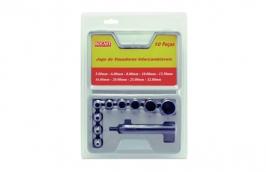 Jogo de Vazadores Intercambiáveis Com 10 Peças de 5 mm a 32 mm - ROCAST