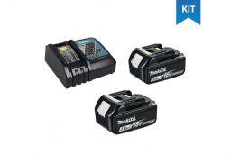 Kit 2 Baterias de Lítium 18V de 3AH BL-1830 197599-5 + Carregador de Baterias 18V DC18RC 110V 195581-8 - Makita