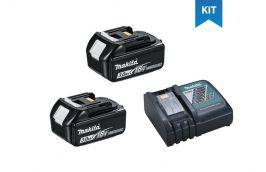 Kit 2 Baterias de Lítium 18V de 3AH BL-1830 197599-5 + Carregador de Baterias 18V DC18RC 220V 195590-7 - Makita