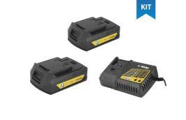 Kit 2 Baterias Intercambiáveis de Litíum 18V 2AH IBV-1802 + Carregador para Baterias 18V Carga Rápida Bivolt ICBV-1806 - Vonder