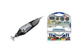 Kit Artesão Micro Retífica 110V Dremel 4000 + Jogo com 110 acessórios para Micro Retífica