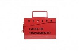 Kit com 3 caixas de bloqueio metálica para 13 cadeados CBA13 - Tagout