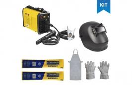 Kit de soldagem com inversora de solda + eletrodo e acessórios