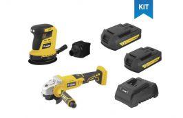Kit Esmerilhadeira IEV-1808 e Lixadeira ILOV-1803 + 2 Baterias e Carregador - Vonder