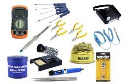 Kit ferramentas para eletrônica completo Profissional