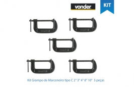 Kit Grampo de Marceneiro tipo C 2