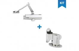 Kit mola aérea para portas + Fixador de porta de pressão - VONDER