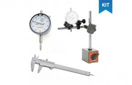 Kit Paquímetro analógico  + Relógio comparador + base magnética  - DIGIMESS