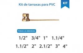 Kit tarraxas para fazer rosca em cano PVC - TORMEP