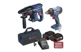 Martelo Perfurador Rompedor 18V GBH 180-LI + Chave de Impacto 18V GDX 180-LI + kit baterias e bolsa - Bosch