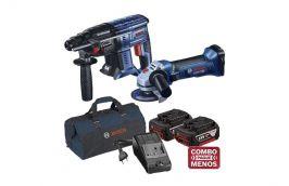 Martelo Perfurador Rompedor 18V GBH 180-LI +  Esmerilhadeira 18V GWS 18-125V-LI + kit baterias e bolsa - Bosch