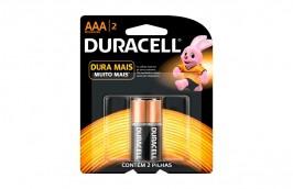 Pilha Alcalina Palito AAA Com 2 peças MN2400 - Duracell