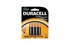 Pilha Alcalina Palito AAA Com 4 peças MN2400 - Duracell