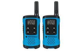 Rádio Comunicador Talkabout para 25 km Azul  T100BR 2 peças - MOTOROLA
