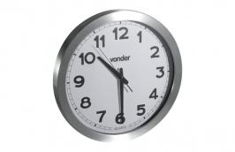 Relógio de Parede 400mm Fundo Branco Sem Pilha - VONDER