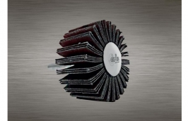 Roda Lixa de 40 x 20 mm com Haste de 1/4'' Grão 80 - DISFLEX