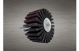 Roda Lixa de 50 x 25 mm com Haste de 1/4'' Grão 80 - DISFLEX