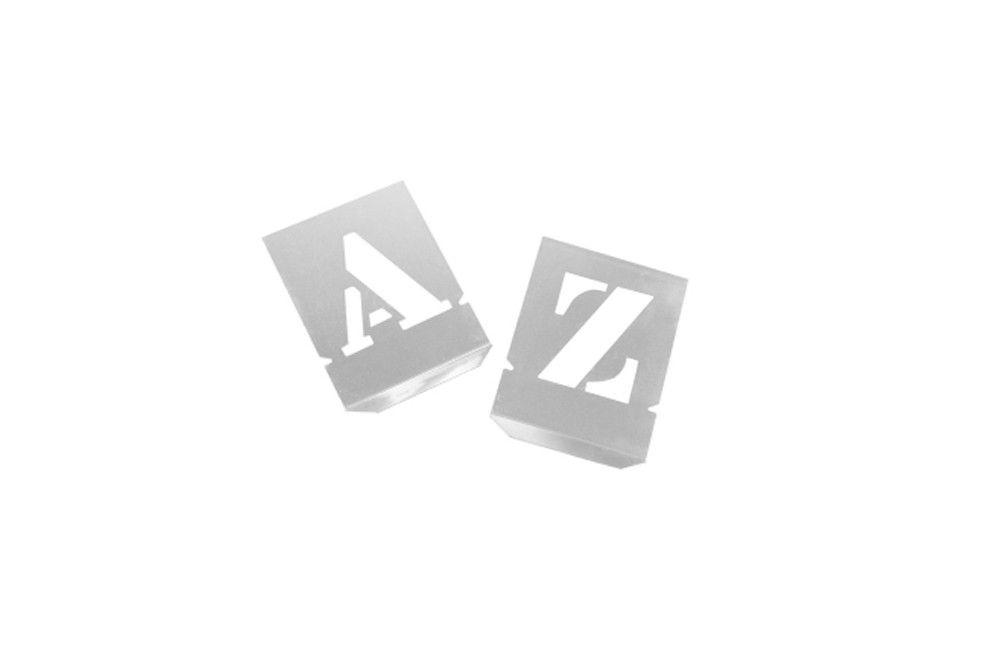 Alfabeto de Chapa de Aço 20 mm para pintura