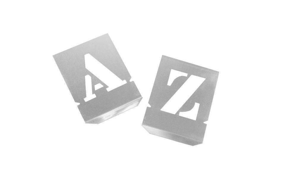 Alfabeto de Chapa de Aço 50 mm para pintura