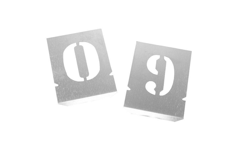 Algarismo de Chapa de Aço 100 mm para pintura